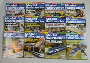 Lot-of-12-Model-Railroader-Magazines-2005-Complete-year-Full