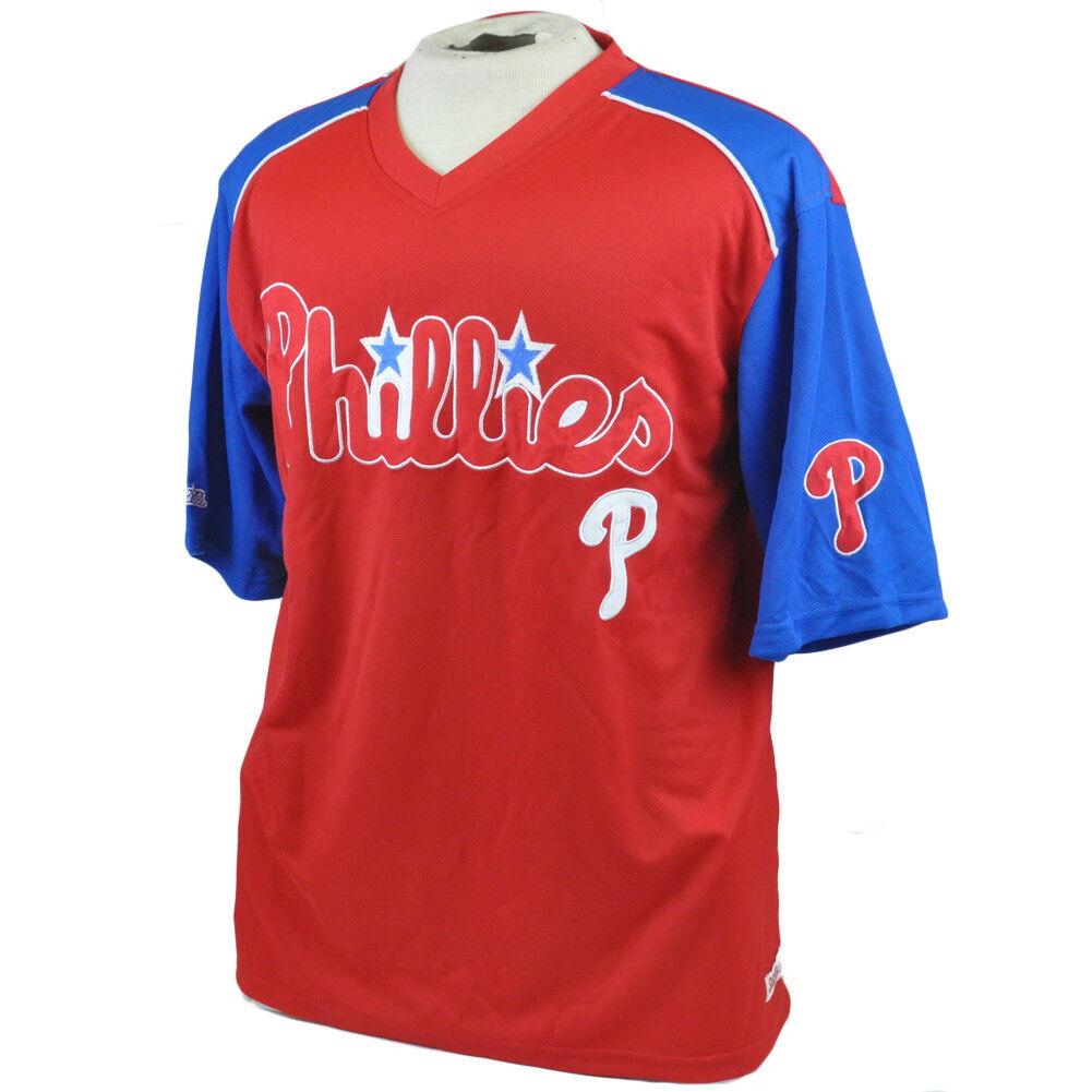 MLB Stichen Philadelphia Phillies Leicht Authentisch Authentisch Authentisch Trikot Hemd L L 1d5a46