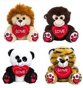 30CM-Love-Hear-Wild-Animal-Plush-Toys-With-Printed-Paws-Cuddly-Plush-Soft-Toys