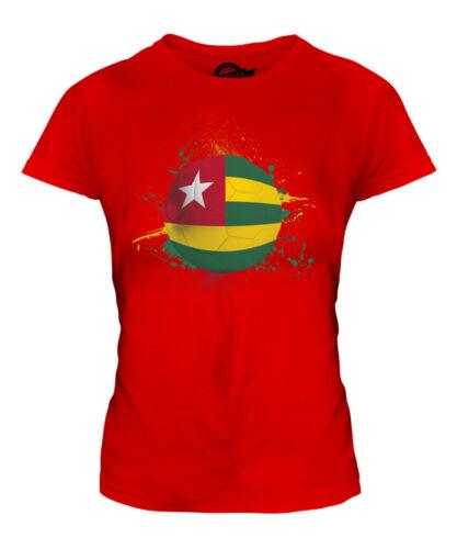 Togo FOOTBALL Donna T-Shirt Tee Top Regalo Coppa del Mondo Sport