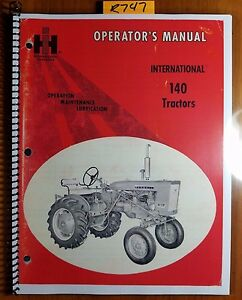 ih international mccormick farmall 140 tractor owner operator manual rh ebay com farmall 140 service manual pdf farmall 140 manual ebay