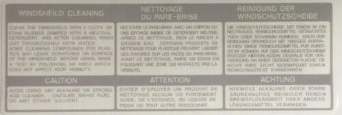 RD350 YPVS 31K écran de prudence Avertissement Décalque 2