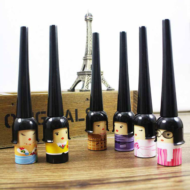 1pc Lucky Doll Eyes Makeup Cosmetic Waterproof Tool Black Liquid Eyeliner Pen