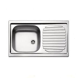 Lavello lavandino cucina inox da incasso cm 86 x 50 ala dx ebay - Lavandino incasso cucina ...
