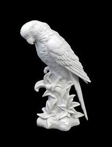 9942460-Bisque-Porcelain-Figurine-Bird-Parrot-Wagner-amp-Apel-H22cm