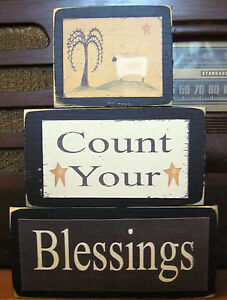 Count-Your-Blessings-Country-Primitive-Rustic-Stacking-Blocks-Wooden-Sign-Set