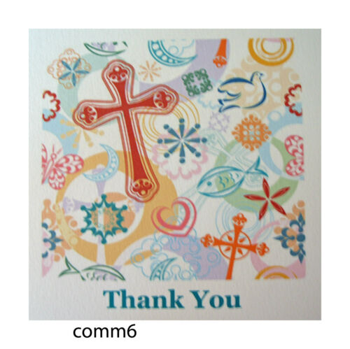 pack of 6 cards Communion Thank you cards various designs to choose from