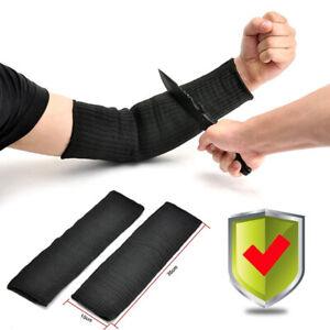 2tlg-Kevlar-Sleeve-Armschutz-Unterarmschuetze-Anti-Schnitt-Brennen-Resistent-Arm