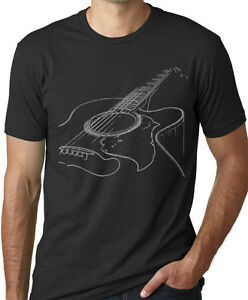 Think-Out-Loud-Apparel-Acoustic-Guitar-T-Shirt-Musician-Tee-Guitar-Player-Shirt