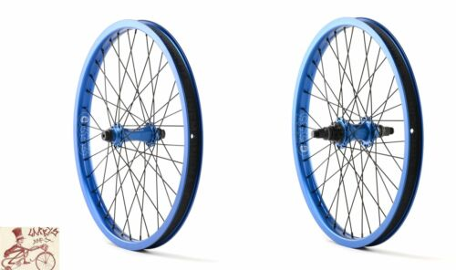 """CINEMA ZX BLUE 3//8/""""//14MM--9T--RHD 20/"""" X 1.75/"""" BICYCLE FRONT AND REAR WHEELSET"""
