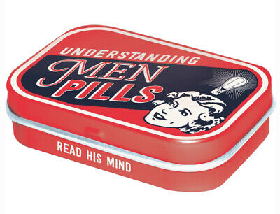 Retro Tin Metal Pill Box /'HAPPY HOUR/' with Mints 1950/'s Americana /'Two for One/'