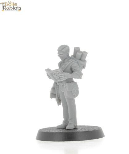 3D figurine 28mm Jeux de tôle//Warhammer//9th age//Cthulu-Explorateur 1