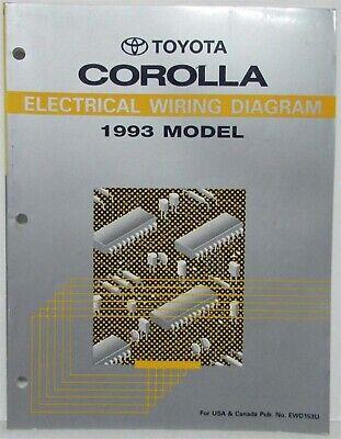 1993 Toyota Corolla Electrical Wiring Diagram Manual US ...