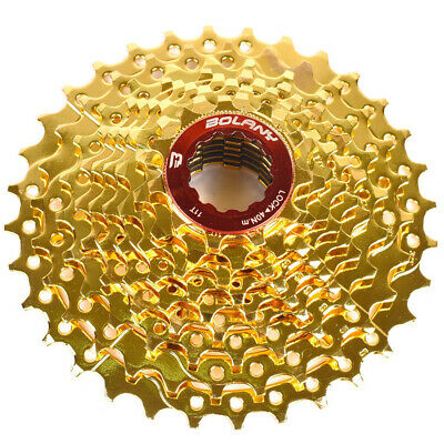 Bolany Mtb Bike 9 Speed 11-32t Gold Cassette Flywheel Fit Sram Avid Shimano Beneficial To The Sperm Bicycle Components & Parts Cassettes, Freewheels & Cogs