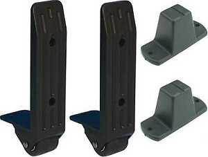 Flightcase-Bun<wbr/>dle: 2x 40mm Kanten-Aufbaur<wbr/>olle + Plastikfüße Adam Hall 3782 4982
