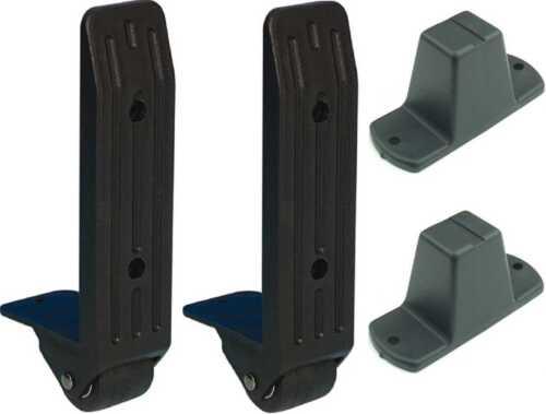 Flightcase-Bundle: 2x 40mm Kanten-Aufbaurolle + Plastikfüße Adam Hall 3782 4982