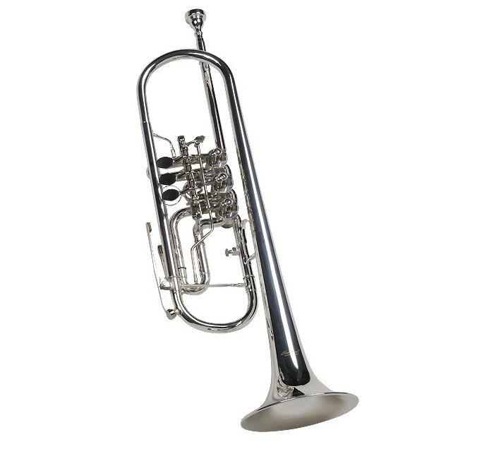 Konzerttrompete, Trompete silber, mit Trigger, versilbert, schöner Klang