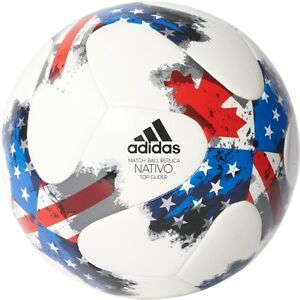 adidas-2017-MLS-Nativo-Top-Glider-Soccer-Ball-Brand-New-White-Red-Blue