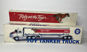 Vintage Exxon Rely on the Tiger Toy Tanker Truck Collectors Exxon Series NIB