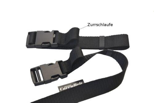 """Steckschnalle Gepäckgurt Zurrgurt neu CarryBelt Spanngurt /""""Lyon50/"""" mit Zurröse"""