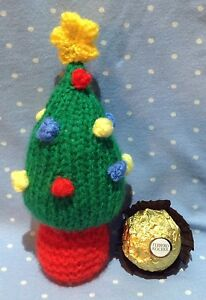 Christmas Knitting Patterns For Ferrero Rocher.Details About Knitting Pattern The Christmas Tree Chocolate Cover Fits Ferrero Rocher