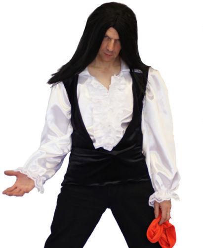 MEATLOAF-Dead Ringer HARD ROCKER Long Black Wig Fancy Dress Accessory