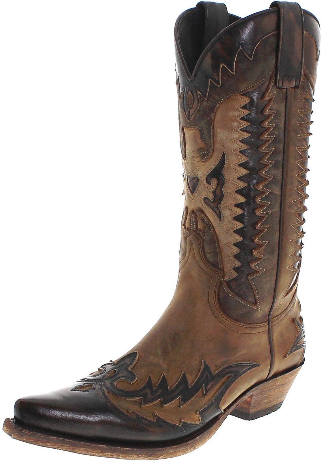 Sendra bottes 13040 Mad Dog Tang Lavado Bottes De Cowboy Pour Homme Marron