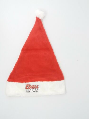 Pair of Deluxe quality Christmas Santa hats red white party Coors Light logo