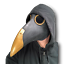 Deluxe Plague Doctor Long Nose Latex Masks Steampunk Bird Crow Mask Halloween