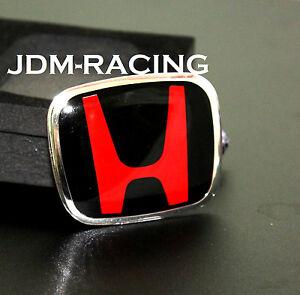 For Honda Black H Steering Wheel TYPE B JDM Emblem CIVIC ...