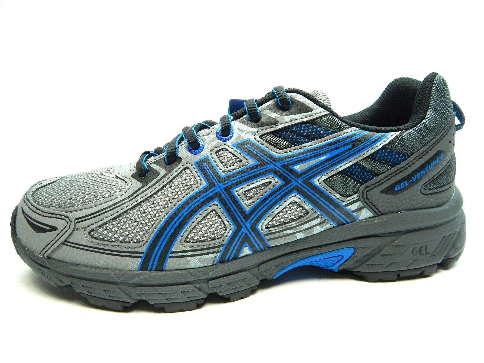 ASICS GEL GEL ASICS VENTURE 6 ALUMINUM noir DIRECTOIRE bleu 9690 hommes Chaussures SIZE 8.0 f27676