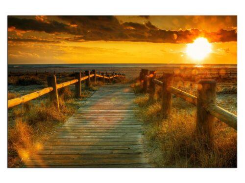 Sonnenuntergang Holland Leinwandbilder auf Keilrahmen A05966 Wandbild Poster