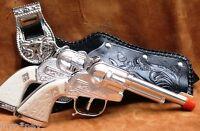 Toy Gun Set For Cowboys Cap Gun Set Two Guns, Two Beautiful Holsters, Belt 10001