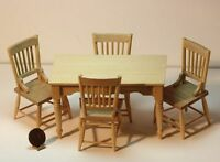 Dollhouse Miniature Farm House Table And Chairs Kitchen Set