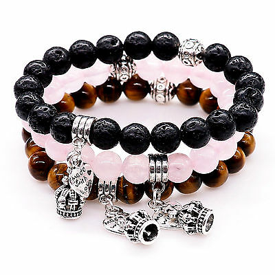 Men Ladies Chakra Balancing Energy Healing Stone Crystal Bracelet for Women UK