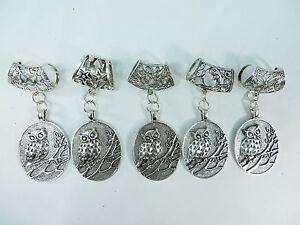 Us seller 5 owl scarf pendant bail slide set scarf tube jewelry ebay image is loading us seller 5 owl scarf pendant bail slide aloadofball Gallery