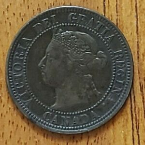 Canada-1900-H-One-Cent-VF-Check-It-Out-KM-7-AA273-5