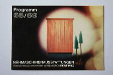 originale Werbung Gebrauchsanleitung DDR Nähmaschinenausstattungen Textima (121)