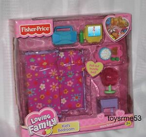 fisher price loving family dollhouse kids bedroom trundle bed free