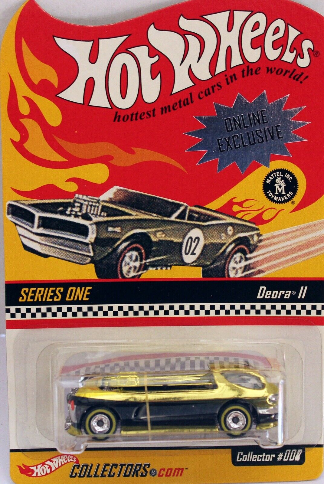 Hotwheels USA hotwheels club Deora Two Mint carded.