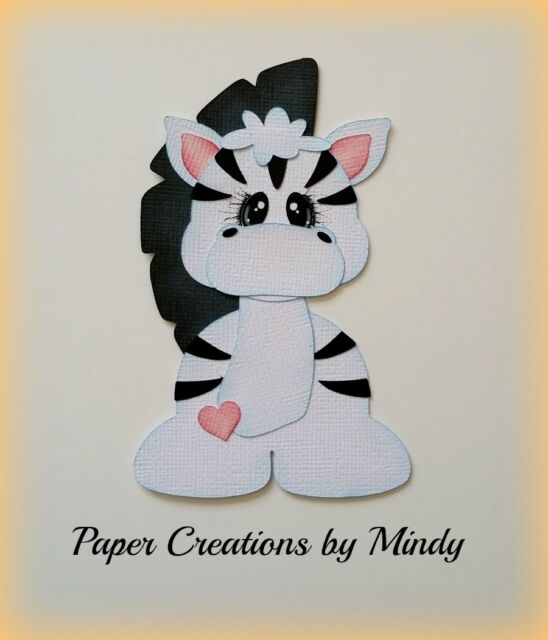 CRAFTECAFE MINDY ZEBRA ZOO BABY DIECUT premade paper piecing for scrapbook page