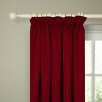 John Lewis Polycotton Rib Lined Curtains Red 183 X 228 Cm 90 X 90