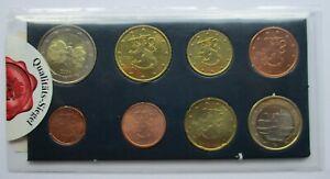 Finlande KMS 2000-2004 1 Cent - Complet 8 Monnaie Dans Dossier