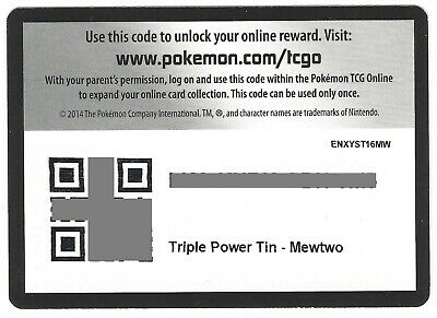 Triple Power Tin Machamp EX Pokemon Online Code Card PTCGO