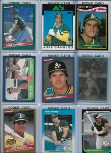 Jose-Canseco-A-039-s-Lot-of-30-Different-w-18-Rookies-1986-Donruss-39-NMint