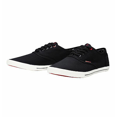 JACK & JONES New Men's Low Canvas Shoes Plimsoll Trainers Sneakers Black