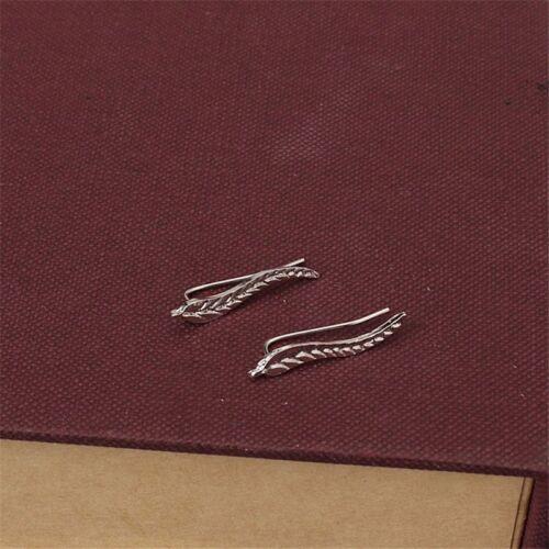 Moda escalador de hoja metálica del oído clip Rodio Plata o Oro Plateado Hipoalergénico