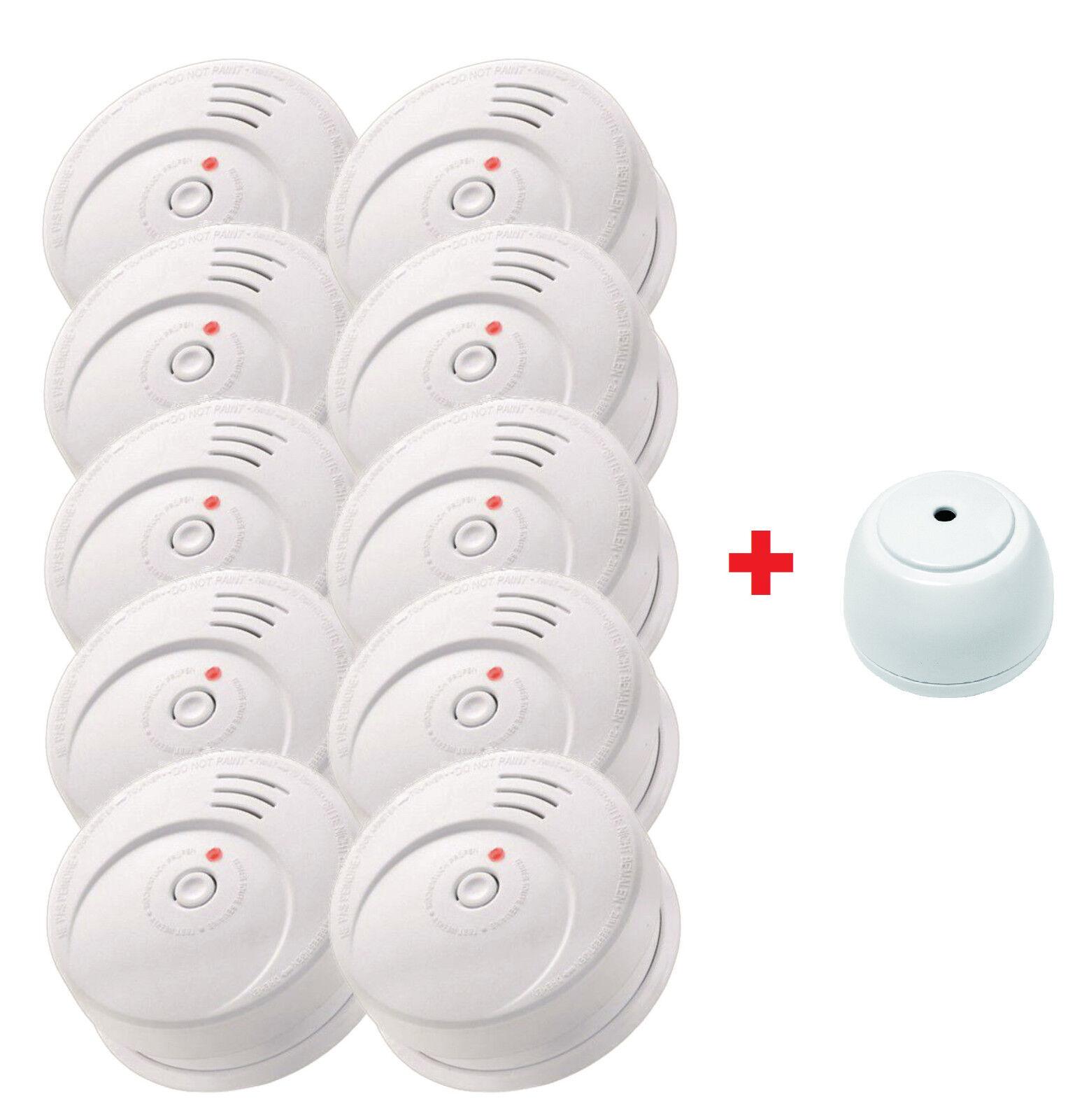 Jeising Sicherheits Set GS506 G 10er Set Rauchmelder/ gratis Wassermelder GS158