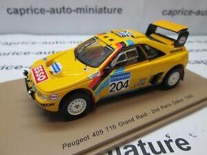 Peugeot 405 T 16 Grand Raid Paris Dakar 1990 Spark 1/43