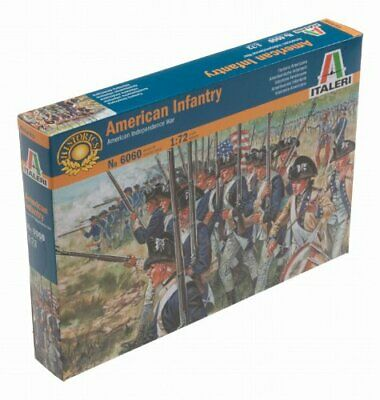 American Infantry Us War Of Independence Plastic Kit 1:72 Model Italeri Una Grande Varietà Di Merci